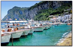 Capri Italy Island Sea Boats Coast Rock House