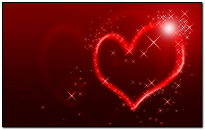 Heart Line Shape Light Background Bright Colorful