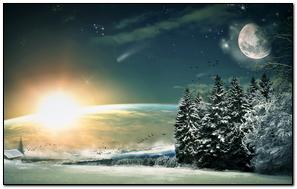 Moon Stars Night Fantasy
