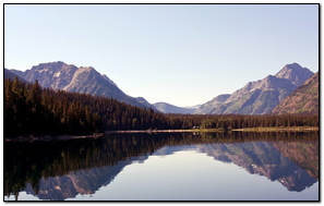 Lake Mountain Sky Reflection Trees