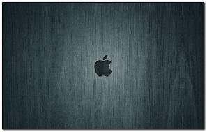 Apple Mac nền đen Nhãn hiệu Logo