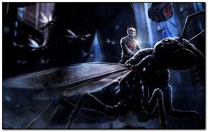 Ant Man Sitting His Pet