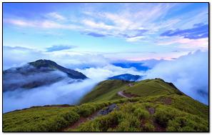 তাইওয়ান ন্যানটউ পর্বতমালা মেঘের কুয়াশা