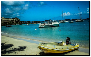 Virgin Islands Beach Boat Sand