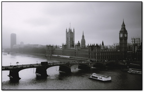 London Mist River Bridge Big Ben
