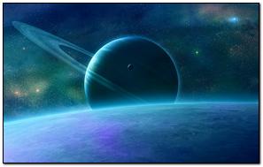 Planet Rings Sky Space