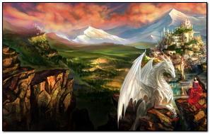 Dragon Castle Princess Mountain Landscape
