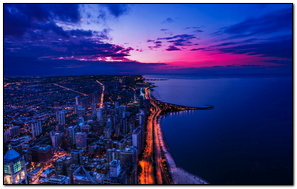 Chicago Sunset 1920x1080