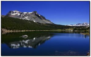 Blue Lake Mountain Reflection