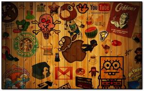 Wooden Graffiti