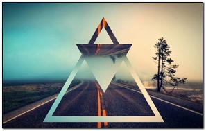 Triangle Shape Background Bright