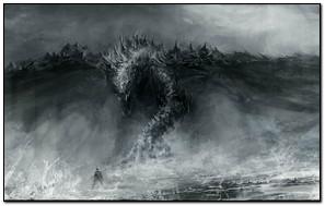 Dark Fantasy Dragon Shadow