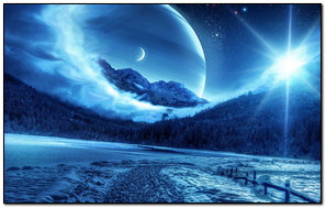 Forest Winter Planet