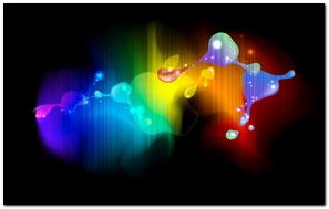 Colorful Blots Lines Rainbow