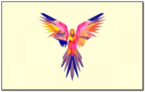 Parrot vector Drawing Bright Color