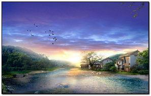 Sông và chim