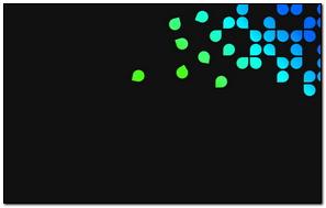 Blue Green Black Dots
