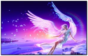 Girl Flying Angel Wings