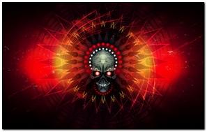 Skull Fire Lines Shadow