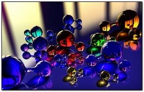 Balls Molecule Massager Glass Reflection Color