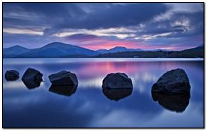 Relaxing Blue Lake