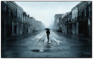 Walk Alone In Rainy Day