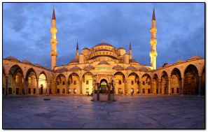 Yellow Lighting Mosque