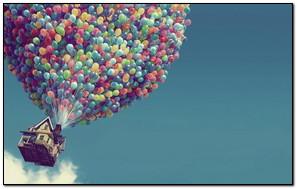Flying Colorful Balloon