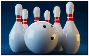 Bowling Ball & Pins