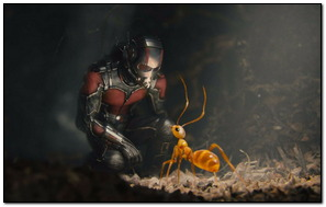 Ant Man Speaking With His Army