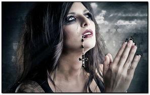 黑暗的哥特式女孩