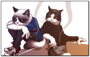 Arguing Smoking Cats