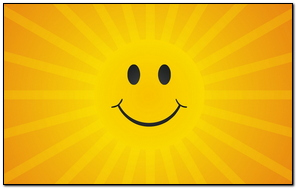 Nụ cười mặt trời nắng