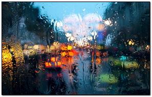 City Traffic In The Rain