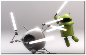 Andriod And Apple Fight