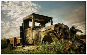 Camión envejecido