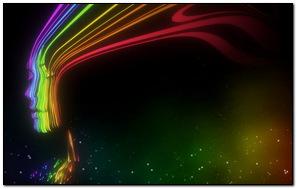 Rainbow Lines Lady