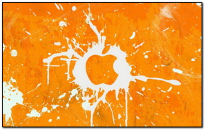 Apple Splatter Paint