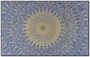 Blue Flowers Dome Design