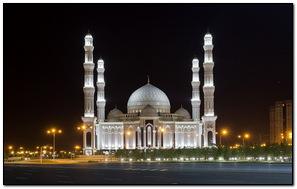 White Lighting Mosque