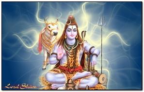 Nền xanh của Chúa Shiva