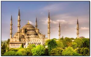 Turkey Istanbul Sultanahmet Mosque