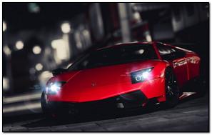 Czerwony Lamborghini
