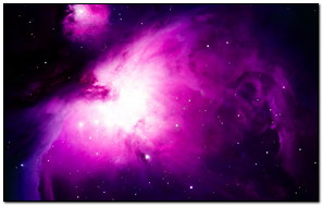 Purple Nebula Space