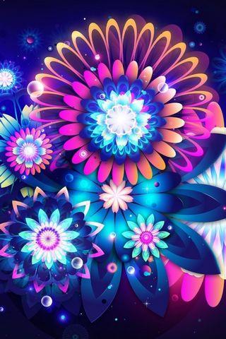 زهور النيون