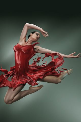 Liquid-dress-ballerina