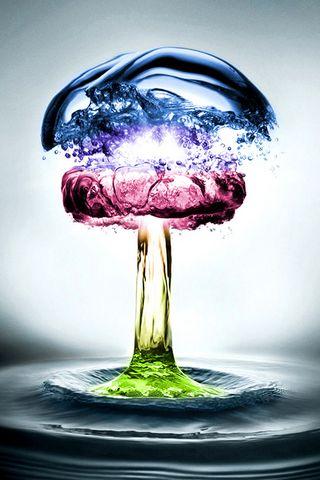 Kolorowy płyn