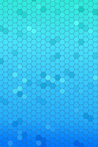 Aqua-hexagons