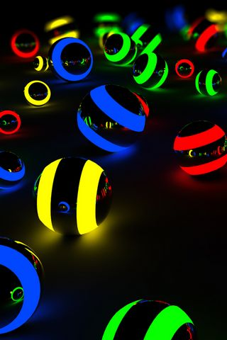 COLOURFUL LIGHT BALLS