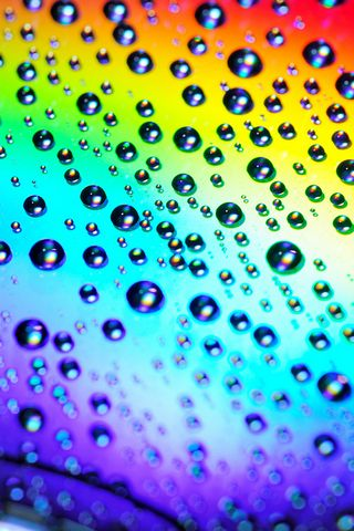 Water Drops On The Rainbow